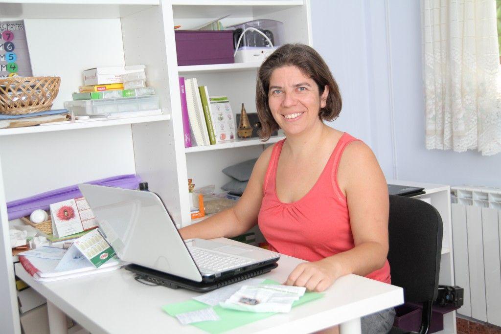 Cristina al ordenador